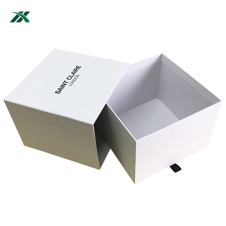 custom size cap gift box packaging hot stamping logo