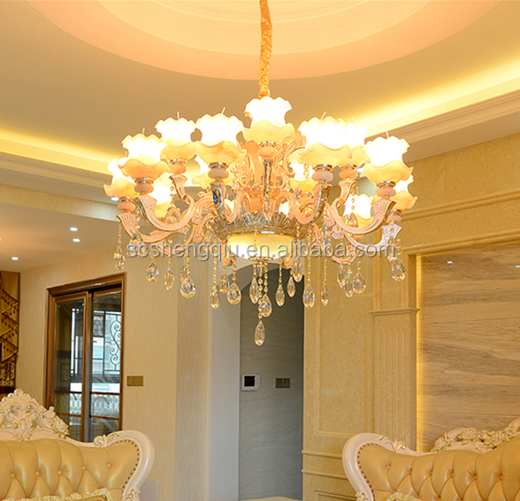 Gaya eropa ruang tamu lampu kristal chandelier giok kamar tidur villa penthouse lampu lampu jane hotel restaurant buy product on alibaba com