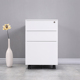 lightweight storage cabinet white steel 3 drawers mobile pedestal file cabinet