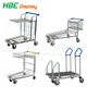 500kg heavy duty industrial warehouse logistics picking hand push cart steel platform trolley