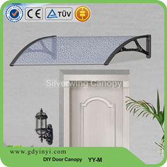 Euro Design Clear Rain Protection Front Door Aluminum Awning