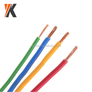Electrical house wiring flexible single solid stranded copper conductor PVC insulated 6mm 4mm 2.5mm 1.5mm electric wire