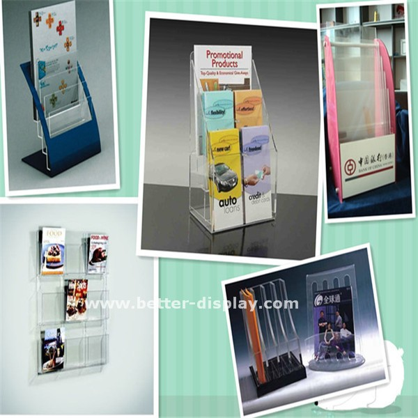 Clear Acrylic Memo Holder With pen holder