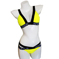 2016 Swimwear Women Bandage Swimsuit Letter Print Sexy Push Up Bikini Set Brazilian Biquini Bathing Suit