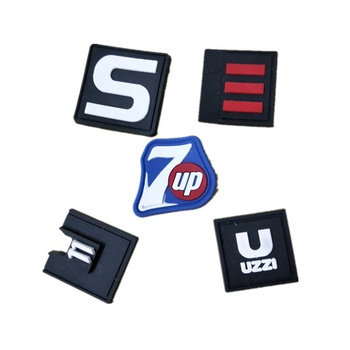 Smiley face square letter logo sign rubber badge Silicone label pvc insignia trademark label
