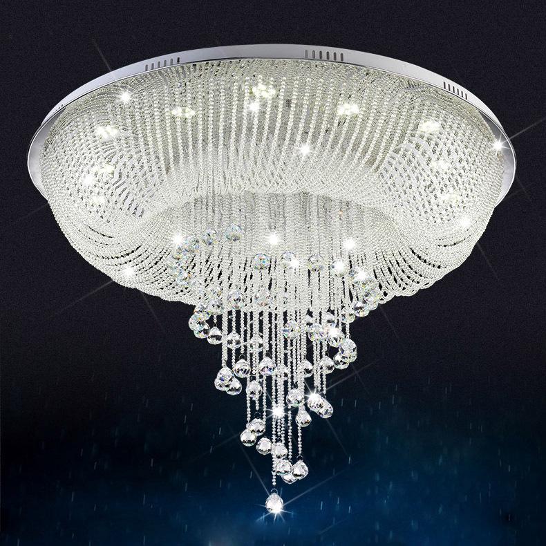 buy large modern crystal chandelier for ceiling luxury living room crystal lamp. Black Bedroom Furniture Sets. Home Design Ideas