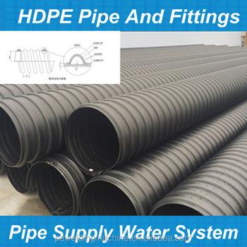 Sn12.5 Sn16 Hdpe Steel Strip Reinforced Polyethylene Plastic ...