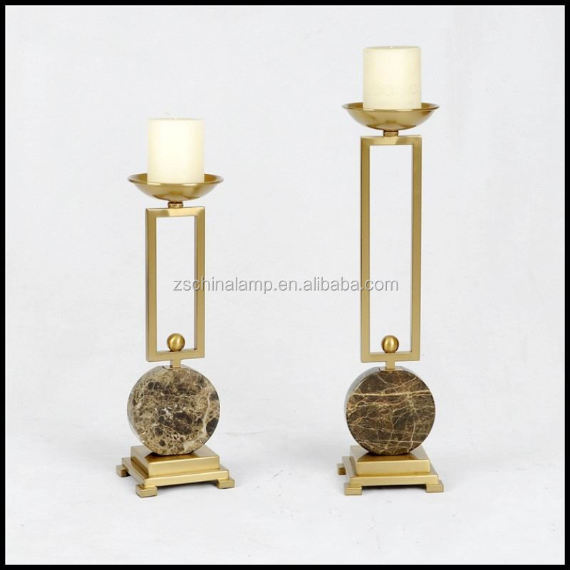 New Design Metal Antique Candle Holder With Marble Slice For Buy Bulk Home Decor And Commercial Hotel Furniture