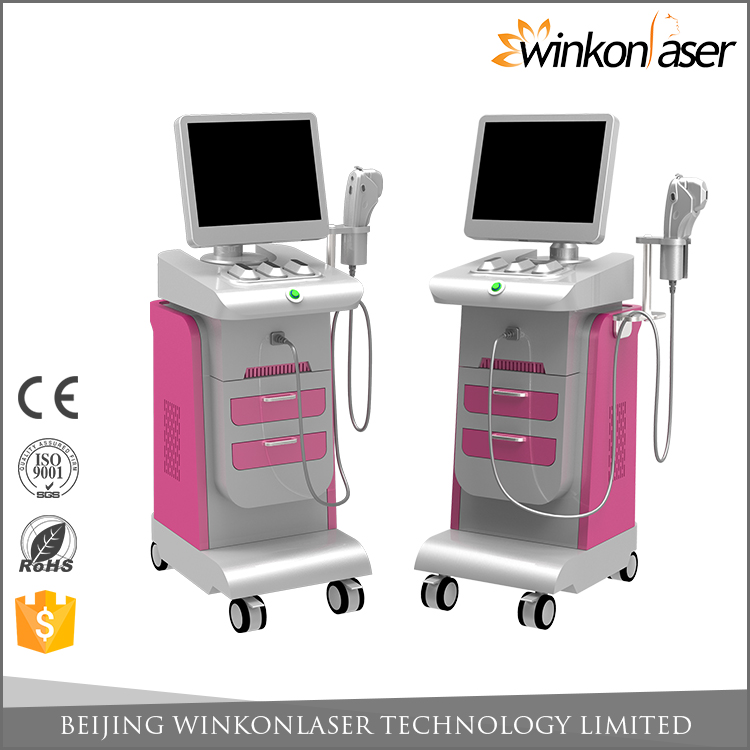 2 years warranty non-invasive imported USA focus chip 5 different cartridges powerful energy ultrasound portable hifu machine
