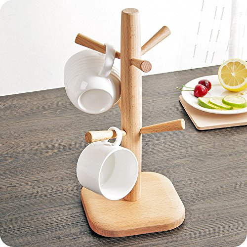 Wood Universal Cup Holder Coffee Cup Holder Tray With 6 Sets For Hot Selling And Wholesale