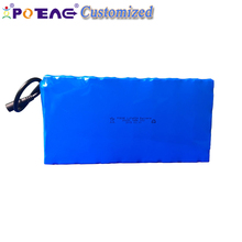 High performance lithium polymer battery pack 36v 10Ah 26650 cells 10S5P 500W li ion for electric bike with waterproof connector