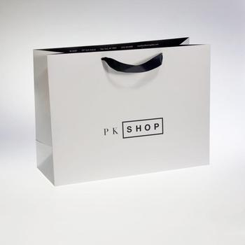 Fashion Design Kraft Paper Bag Logo Printing Paper Packaging Bag For