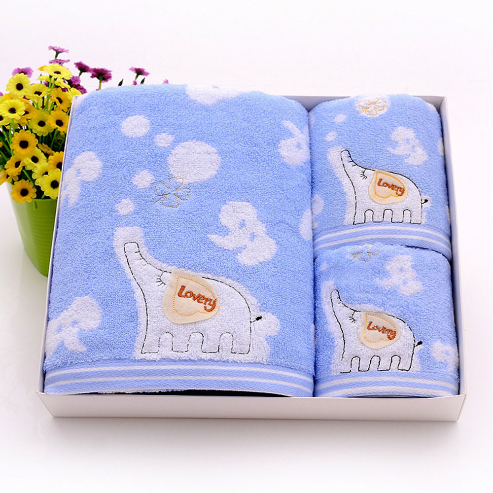 Baby Bath Towel Set Of 3 Baby Gift Set Box 100% Cotton Towels - Buy ...