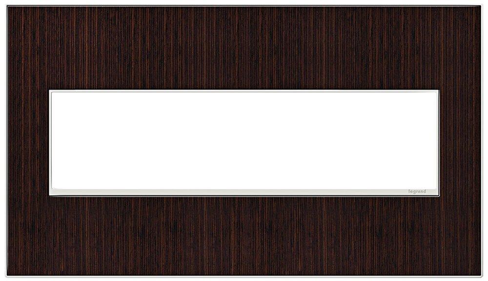 Legrand (AWM4GWE4) adorne Wenge Wood, 4-Gang Wall Plate