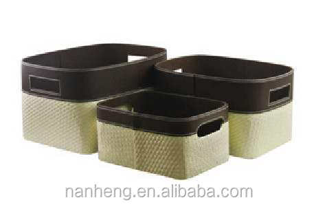 naham home garden 3 pcs woven paper storage basket