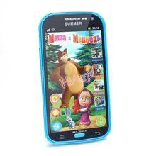 Kids Baby Mobile Phone Toy Russian Language Learning Machines Bear Talking Masha Learning&Education Plastic Juguetes