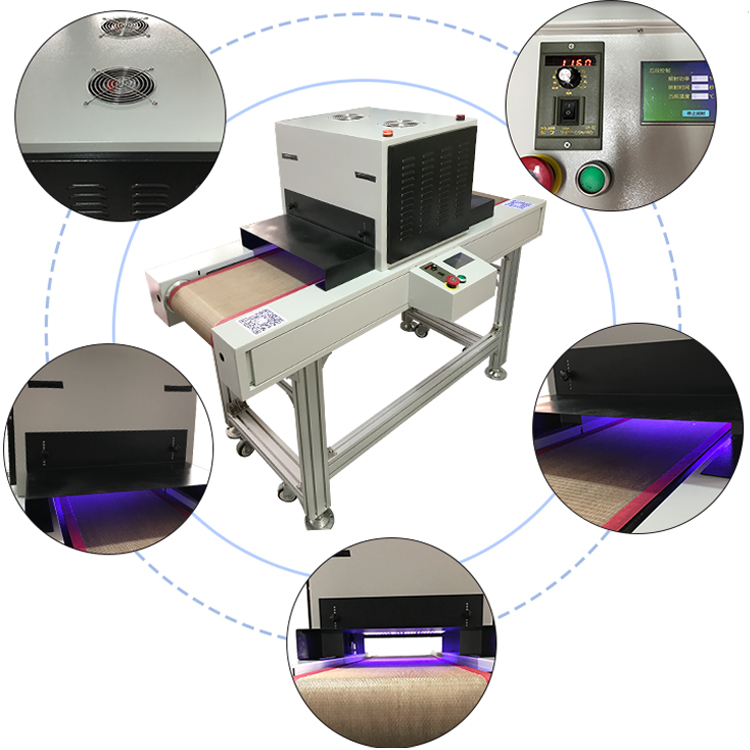HTLD customizing 365~405nm factory price high power uv led curing machine with conveyor belt