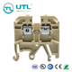 SAK UL 800V 24A conductor size 24-12AWG terminal blocks, 2.5mm terminals connectors weidmuller dinrail mount screw terminals