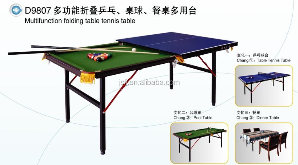Multifunction Mini Foldable Table Tennis TableSingle Folding Ping - Multifunction pool table