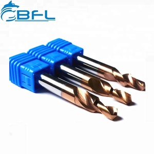 BFL Tungsten Carbide Drill Bit With Coolant Hole , 2 Flute Step Drill Bit