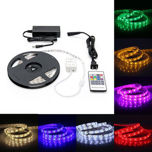 5M 5050 flexible led strip Light DC12V +Remote with EU Adapter