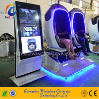 Shopping mall equipment 9d vr egg cinema 9d vr shooting games with remote control account data