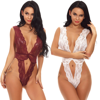Sample order accept lace V-neck translucence women sexy lingerie hot