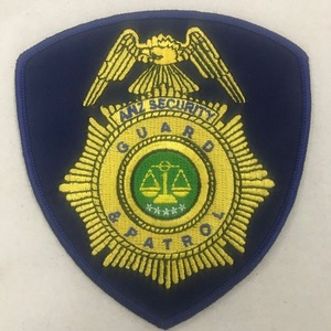 Custom Embroidered Military Patch Security Guard embroidery Badge for apparel