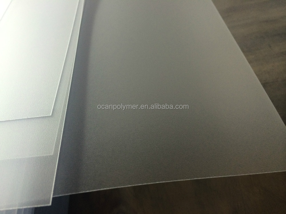 Anti Reflective Transparent Rigid Pvc Sheet Clear Embossed