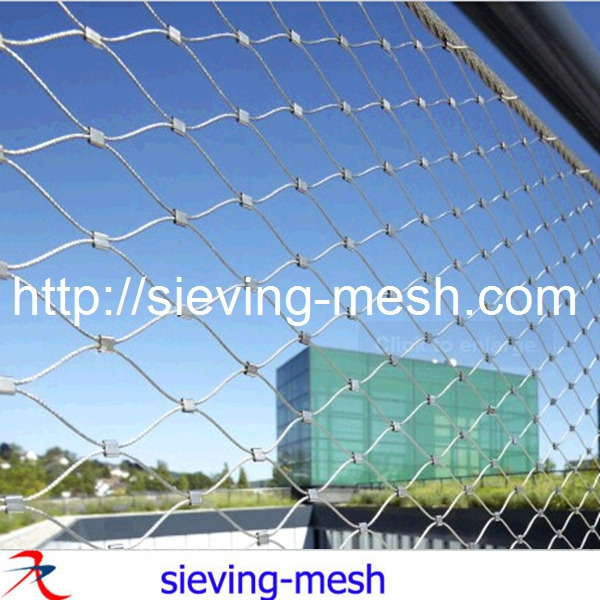 Stainless Steel Woven Rope Net / Woven Wire Mesh Cloth / Diamond ...