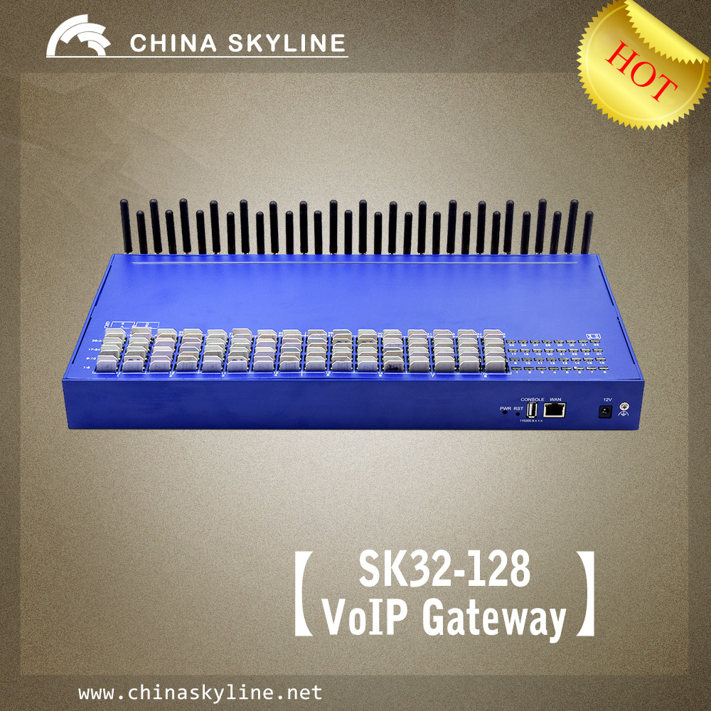 Good working gsm gateway  8 ports 32 SIM Cards sms gateway hardware for sms destinations