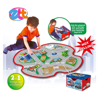 Hot selling traffic game foldable kids car play mat