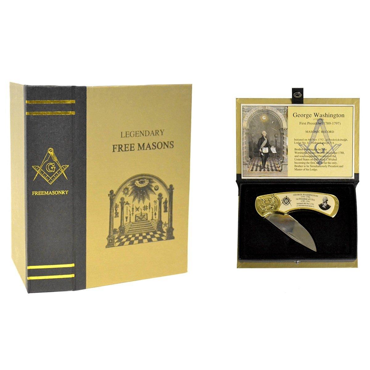 Master Free Mason George Washington Folding Pocket Knife