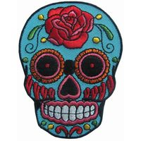 COLORFUL SUGAR SKULL DESIGN TATTOO Embroidered Patch
