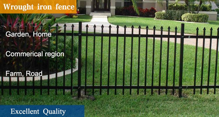 Whlesale Price Spear Top Wrought Iron Garden Fencing Panel