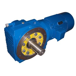 KCW-Y shaft mounted helical bevel gear reduction motor