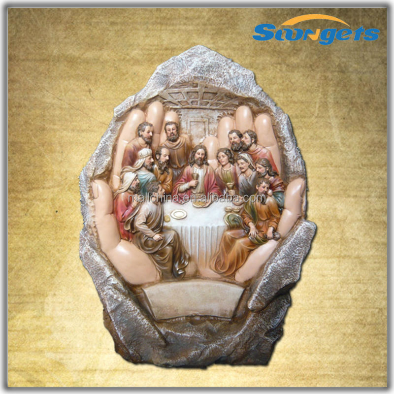 2012 Polyresin Religious Handicrafts Jesus Cross Religious Decoration