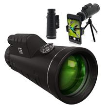 CE Optik 12X50 Monocular <span class=keywords><strong>Teleskop</strong></span>-High Powered BAK4 Prisma Telefon Umfang Mit Smartphone Stativ und Mount Adapter