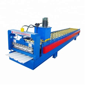 Mauritius Type Color Steel Roofing Sheet Making Machine cold roll forming machine