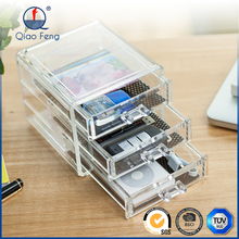 Drawer box acrylic make ups box design organizer with different size to choose