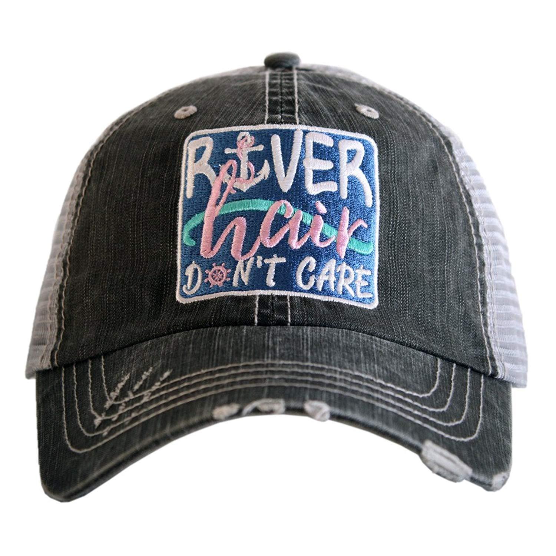 Hats Katydid KDC-TC-701 Blue River Hair Don't Care Patch Trucker
