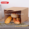 Food Grade Brown Kraft Paper Strung Paper Food Bags for Sandwiches Groceries Sweets etc