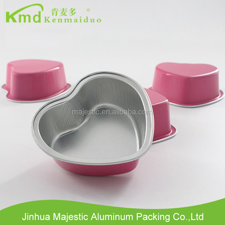 Good Quality heart-shaped aluminum foil container