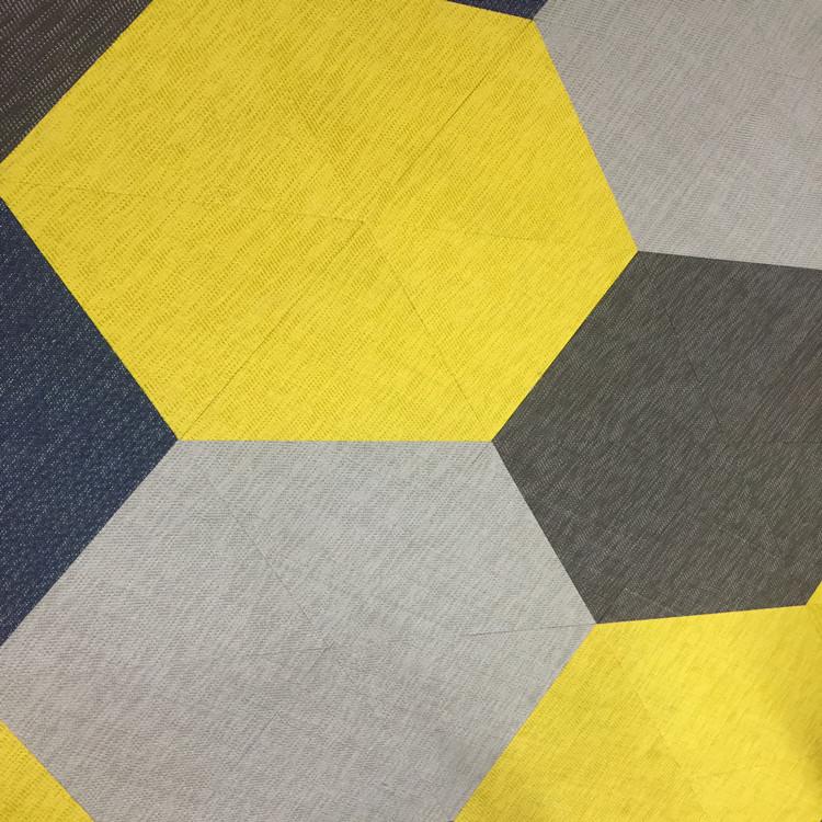Woven Pvc Carpet Yellow Vinyl Floor