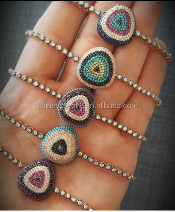 2017 trending products handmade bracelet,fashion jewelry bracelets pave cz eye women <strong>accessories</strong>