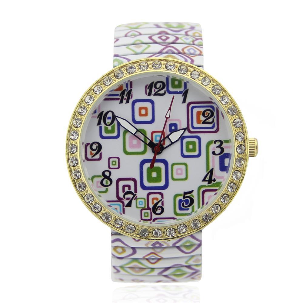 c232c7068296 Sólo para cuarzo reloj seis mujeres digitales metálicos telescópicos lotes  de patrones geométricos