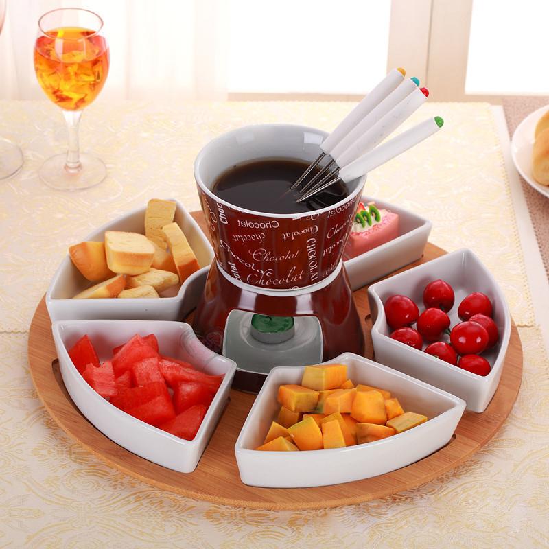 Cheap chinese candle ceramic mini chocolate cute fondue set buy mini chocolate fondue set cute - Fondue de chocolate ...