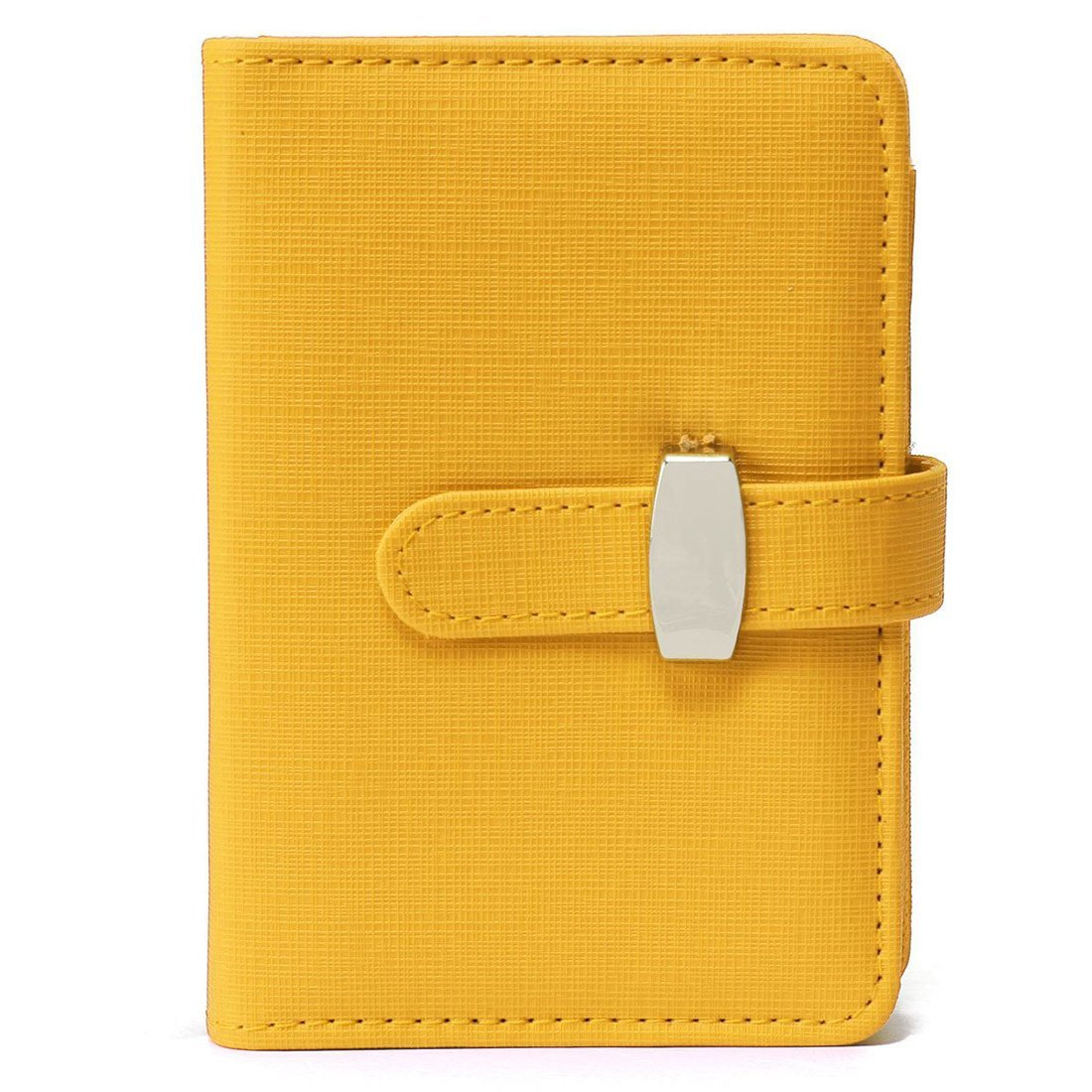 TOOGOO(R) Modern Design A7 Personal Organiser Planner PU Leather Cover Diary Notebook School Office Stationery£¨Yellow£
