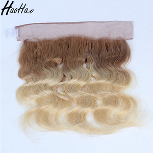 Tangle free Large stock virgin indian hair ear to ear lace frontal for black woman