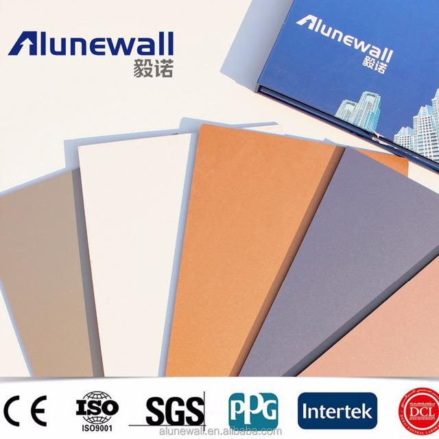 Alunewall Aluminum Composite Panel/ Acp Wall Panels/ Exterior Building  Decoration Materials